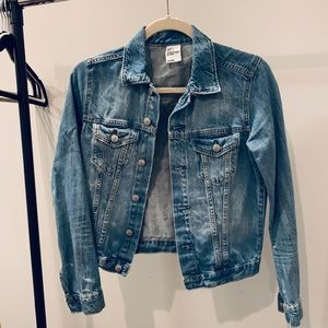 H&M Fitted Denim Jacket Sz 4
